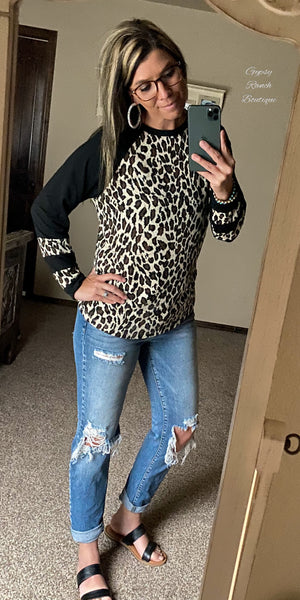 Vanderbilt Black Leopard Top - Also in Plus Size