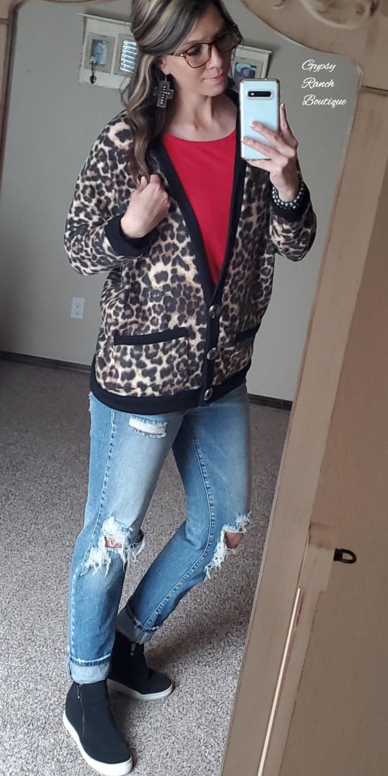 Jordan Leopard Soft Button Cardigan - Also in Plus Size