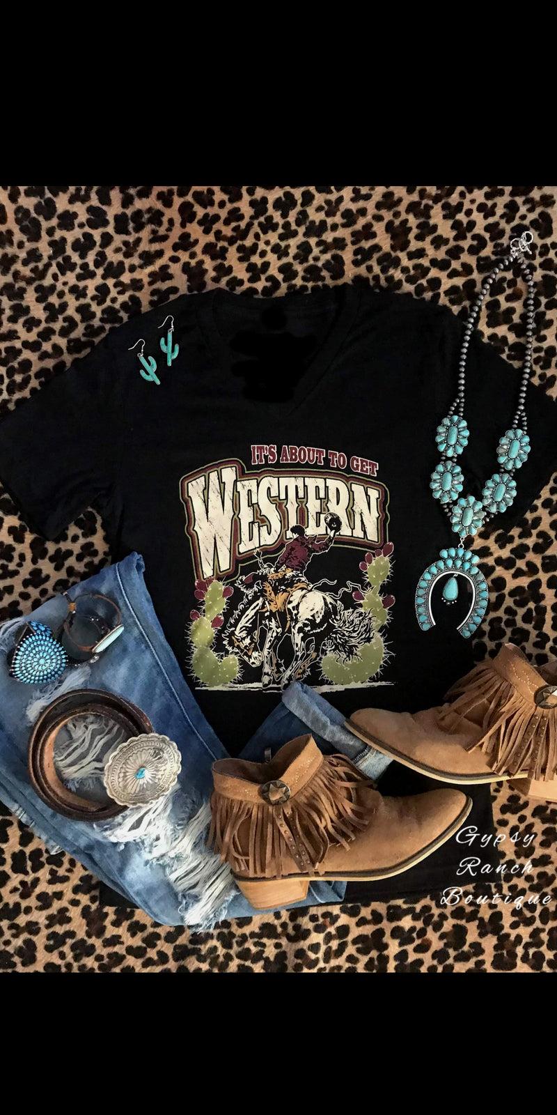 It's About to Get Western Top - Also in Plus Size