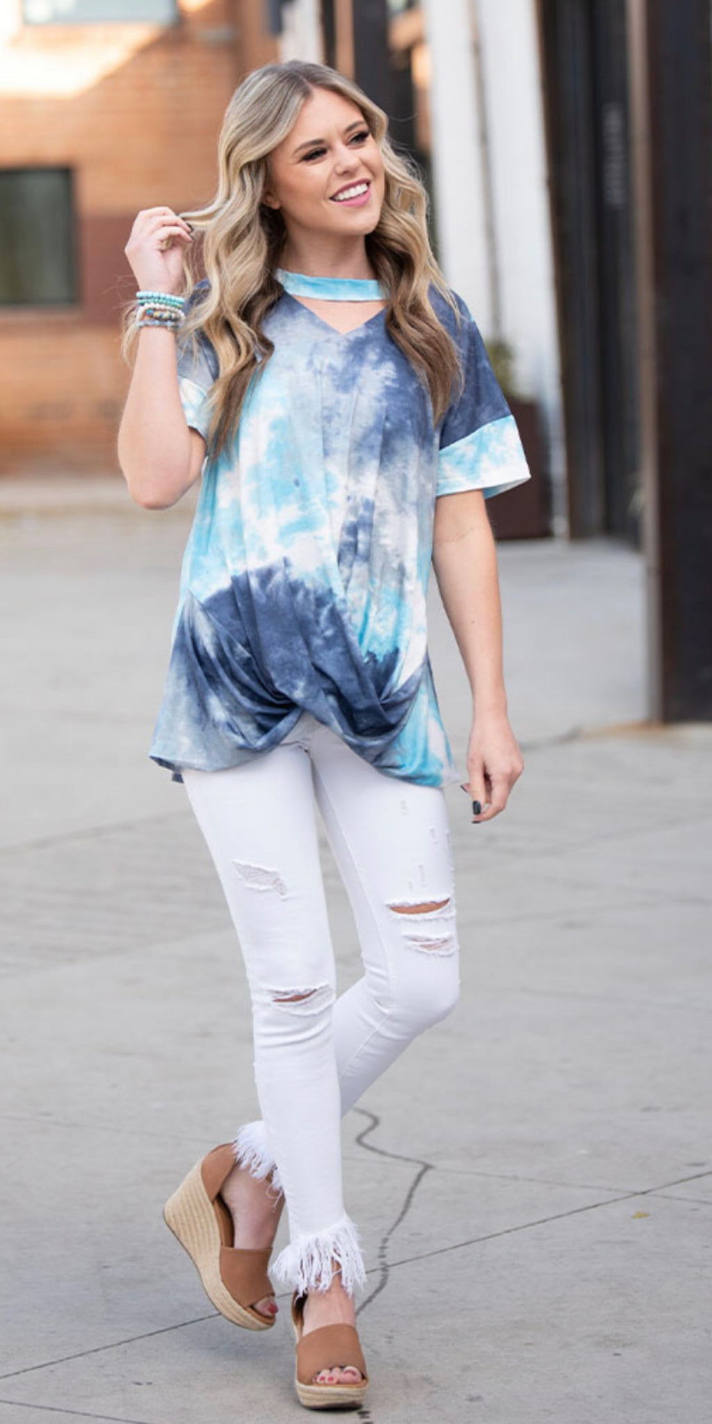 What's Not To Like Tie-Dye Top - Also in Plus Size