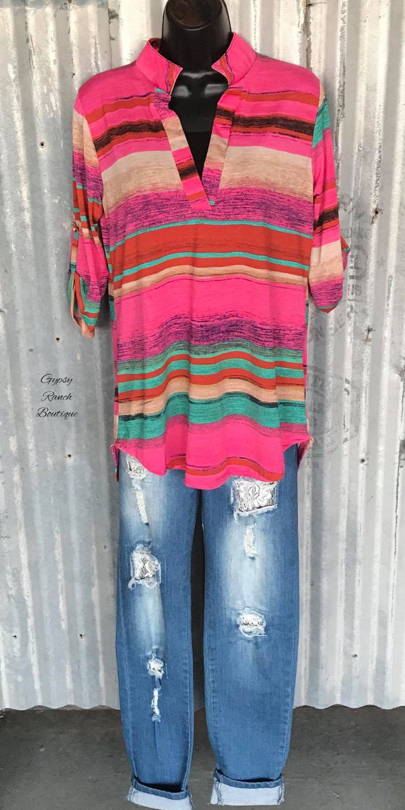 Frontier Days Serape Top - Also in Plus Size