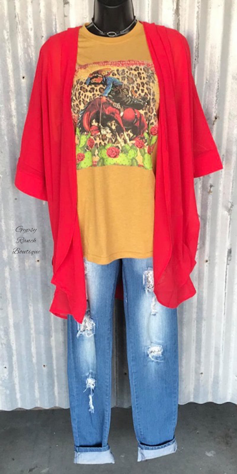 Radicar Red Kimono - Also in Plus Size