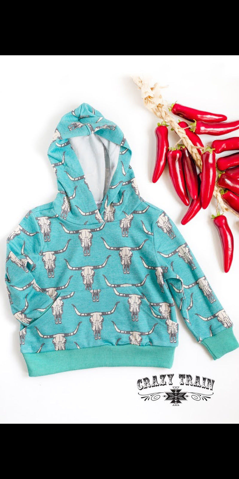 Toddler Steer Hooded Top