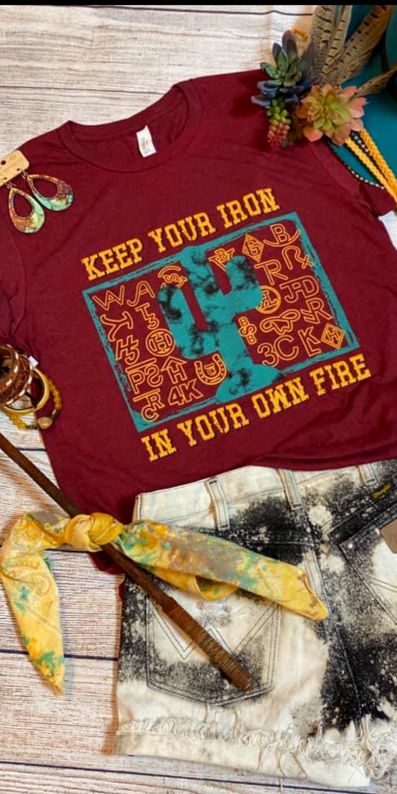Keep Your Iron In Your Own Fire Top - Also in Plus Size