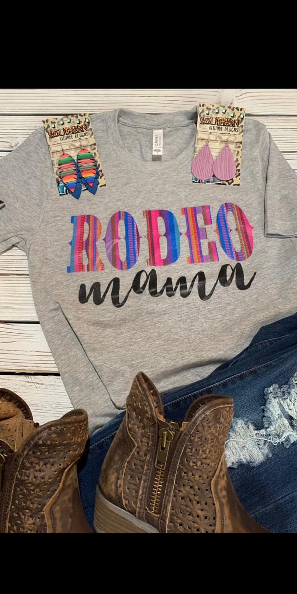 Rodeo Mama in Serape Top - Also in Plus Size