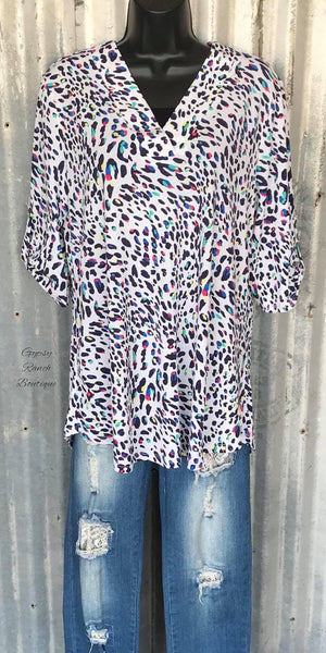 Dessa Leopard Top - Also in Plus Size