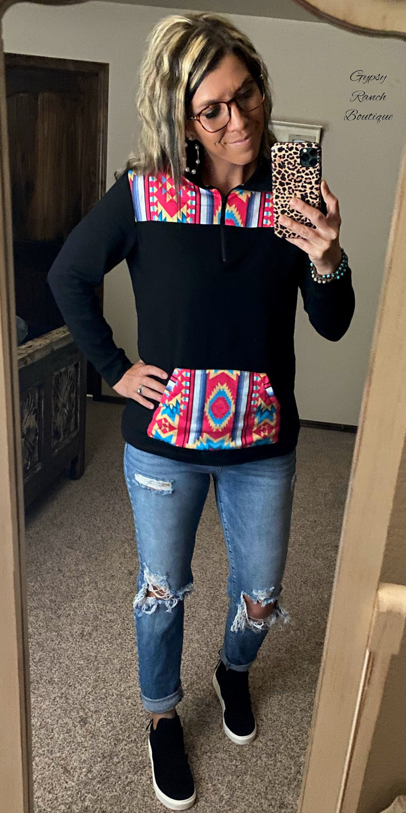 Durango Tribal Pullover Top - Also in Plus Size