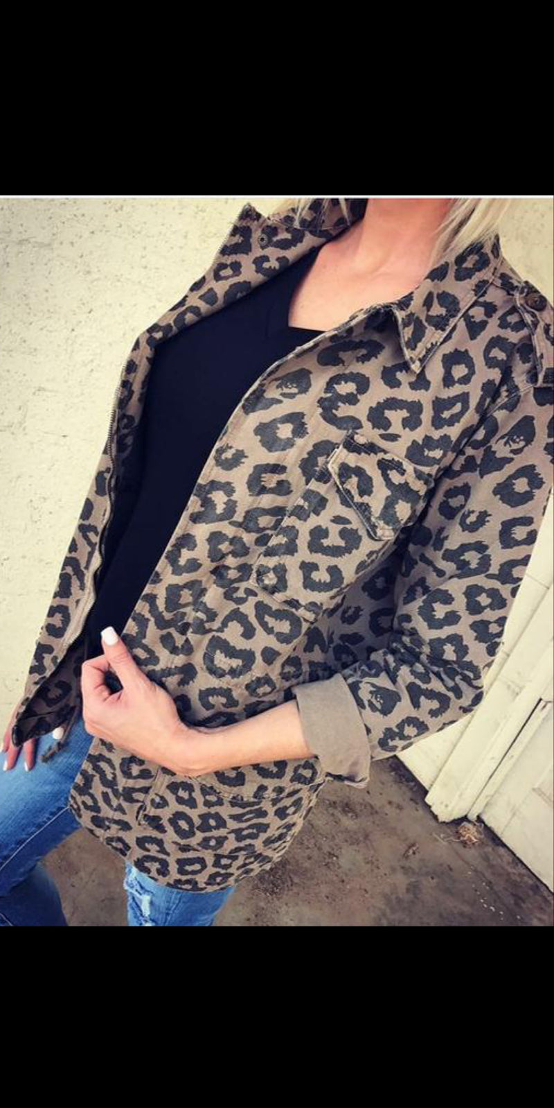Showcase Leopard Jacket - Also in Plus Size