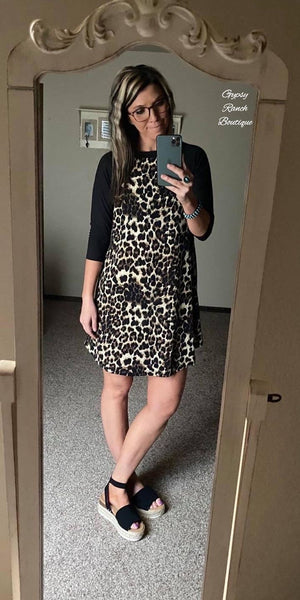 Cripple Creek Leopard Tunic Dress -Also in Plus Size