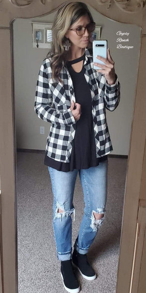 Sierra Plaid Top