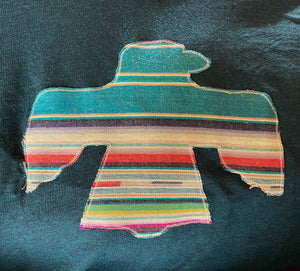 Embroidered Serape ThunderBird Top  - Also in Plus Size
