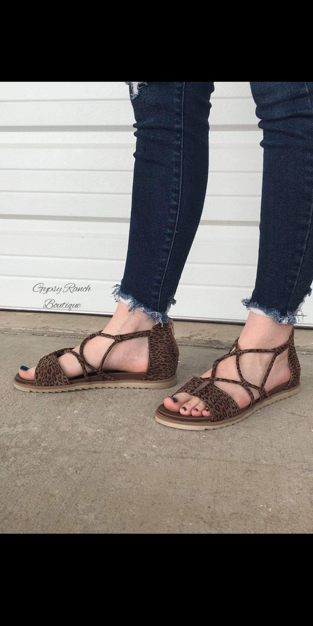 Destiny Leopard Sandals