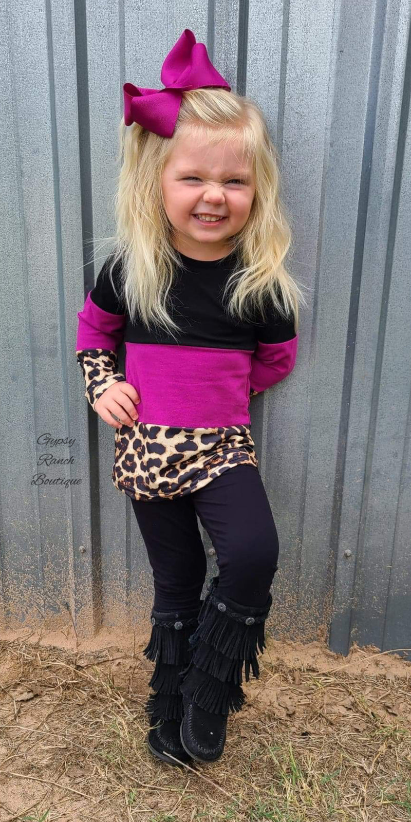 Harlee Leopard Top - Kids