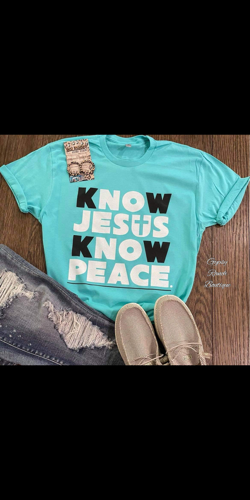 Know Jesus Know Peace Top - Also in Plus Size