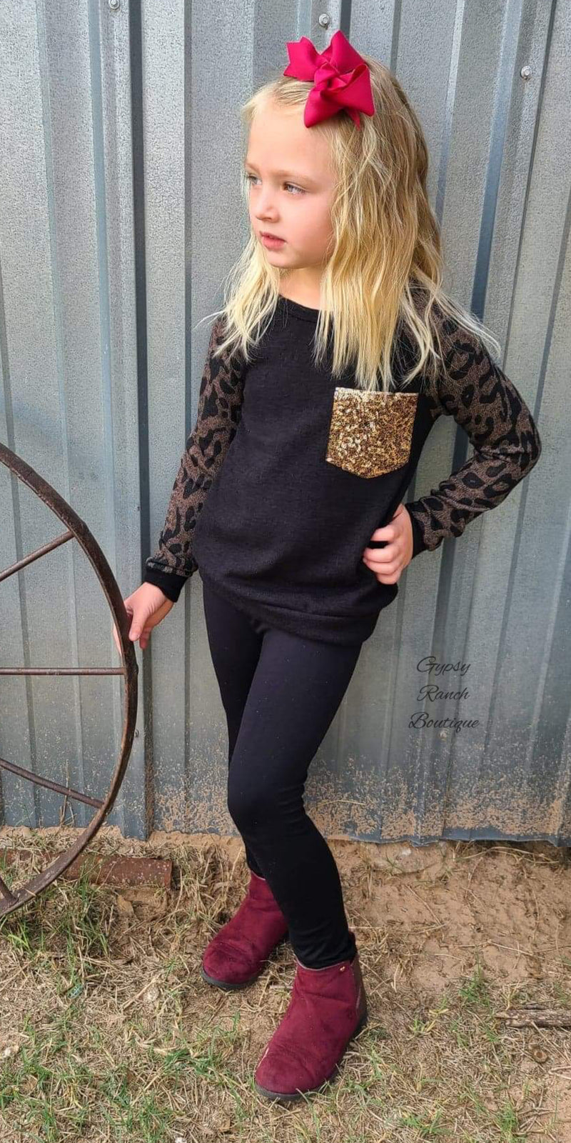 Mallory Leopard Top in Kids