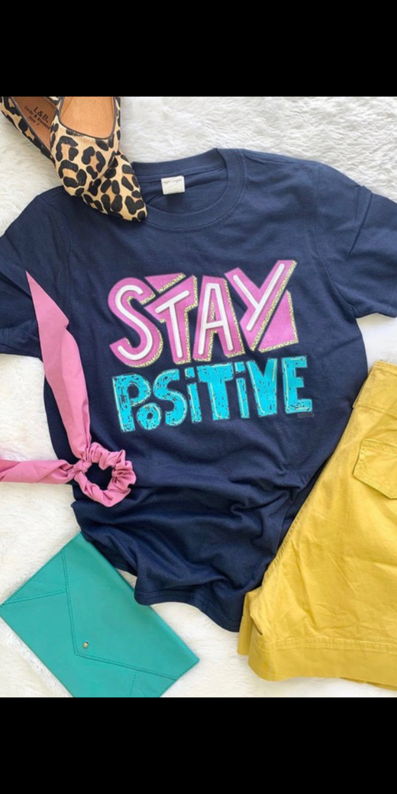 Navy Stay Positive Top - Also in Plus Size