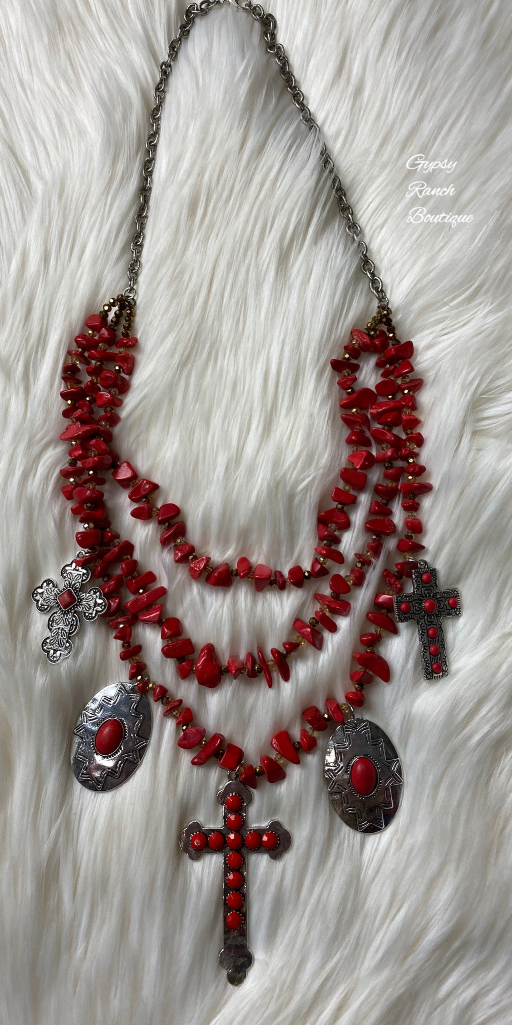 Great Grace Red Cross Necklace