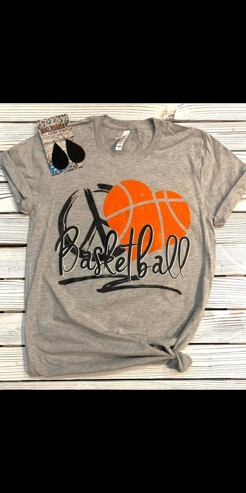 Peace Love Basketball Top - Also in Plus Size
