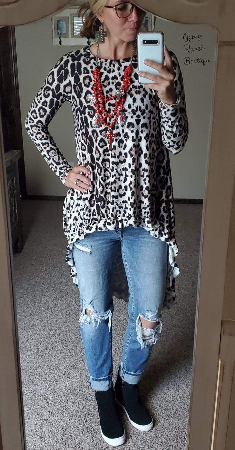 Last Dash Leopard Hi Lo Top - Also in Plus Size