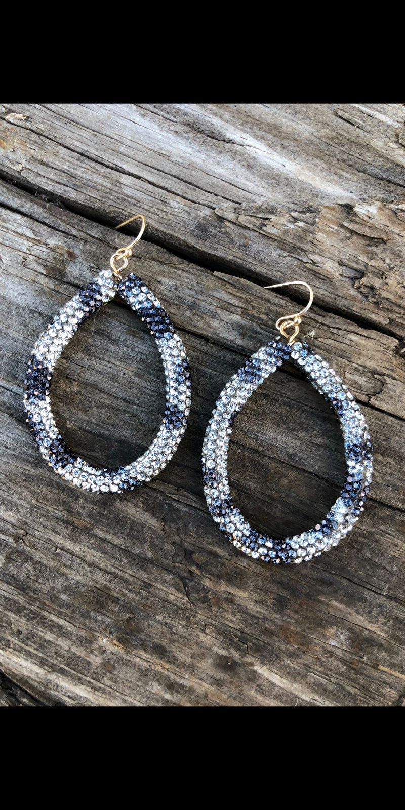 Bria Leopard Rhinestone Hoop Earrings