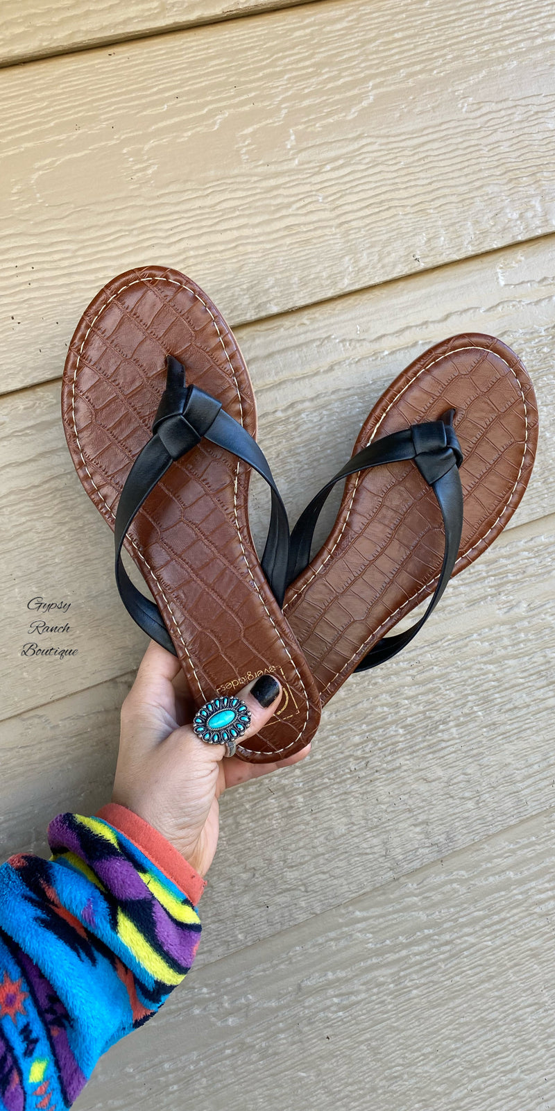 Brockmire Black Sandals