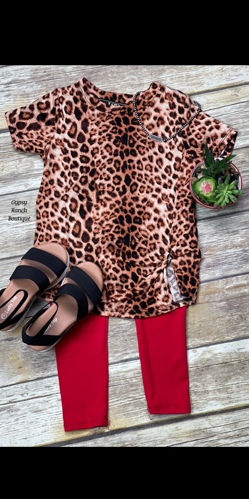 Kids Brennon Leopard Top