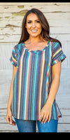 One Sure Way Black Serape Top - Also i Plus Size