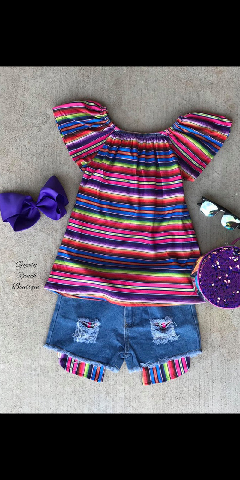 Wimberlee Serape Top & Short Set - Kids