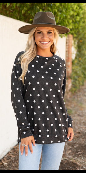 Hill Song Polka Dot Top - Also in Plus Size