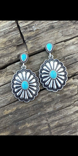 Silas Concho Earrings