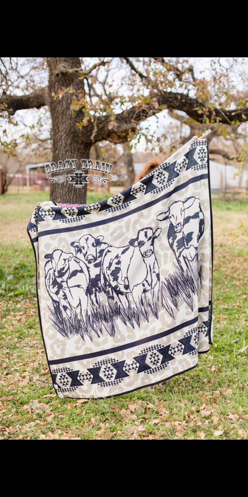 Adult & Kids Cattle Cover Leopard Blanket
