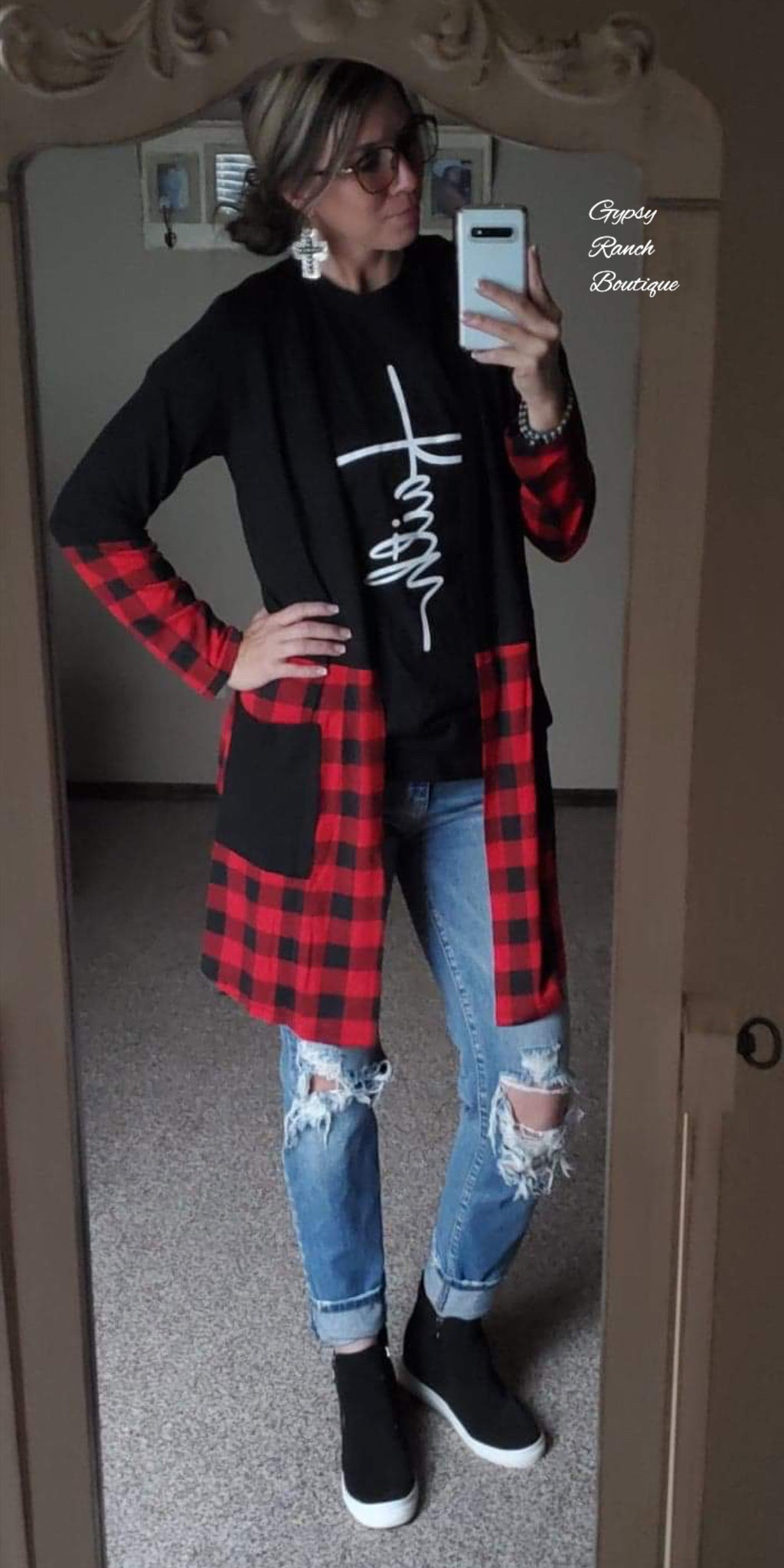 Move over Buffalo Plaid Cardigan - Also in Plus Size