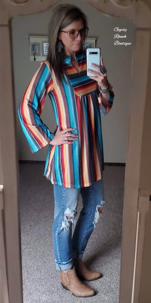 Eagle Rock Serape Tunic Top - Also in Plus Size
