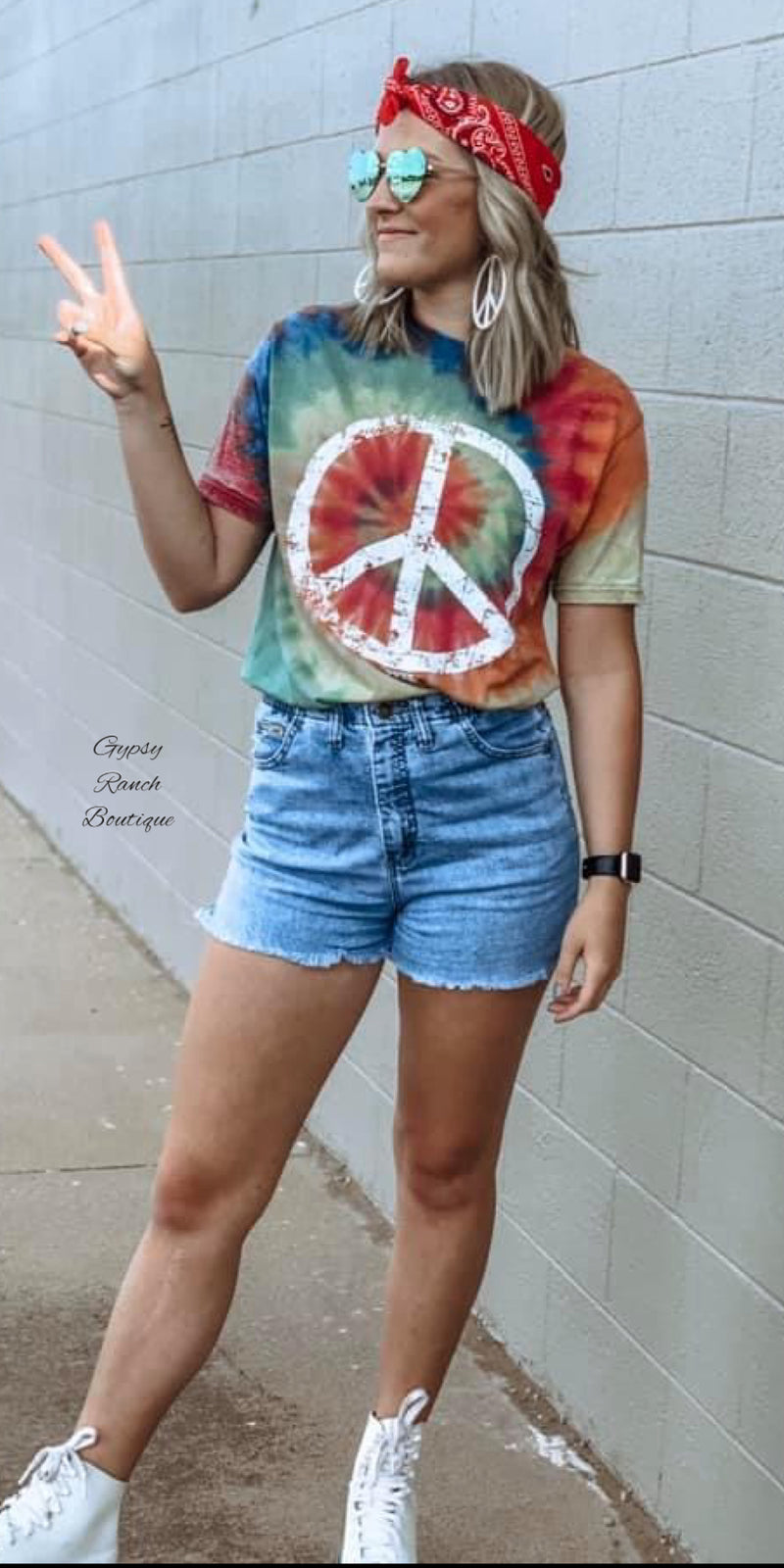 Soft Peace Tye Dye Top - Also in Plus Size