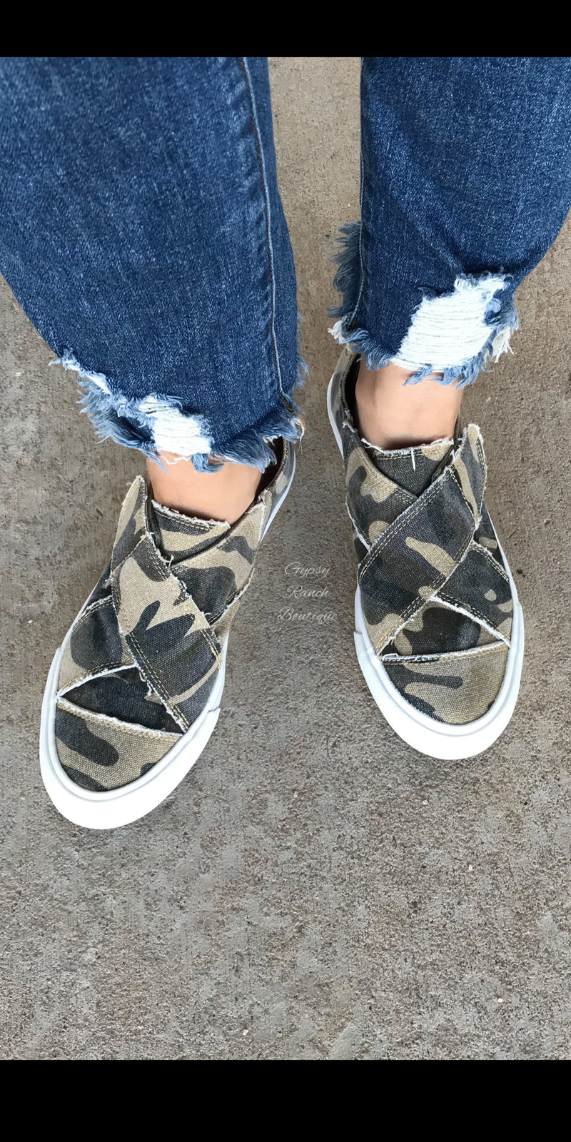 Gypsy Jazz Carraba Camo Slip On Shoes