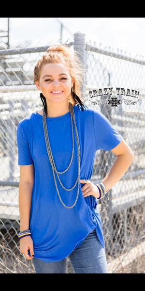 Royal Blue Knotty Top - Also in Plus Size