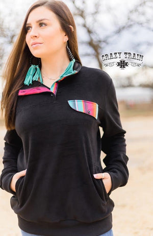 Chic Flick Serape Pullover - Also in Plus Size