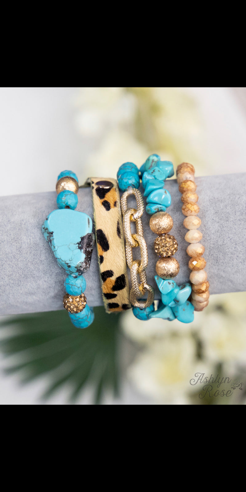 Rockin Turquoise Leopard Collection Bracelet