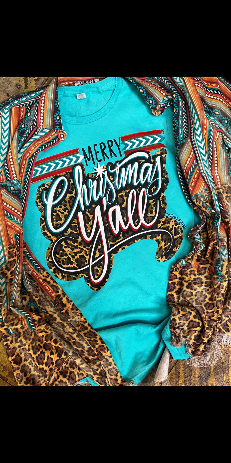 Long Sleeve Merry Christmas Y'all Top - Also in Plus Size