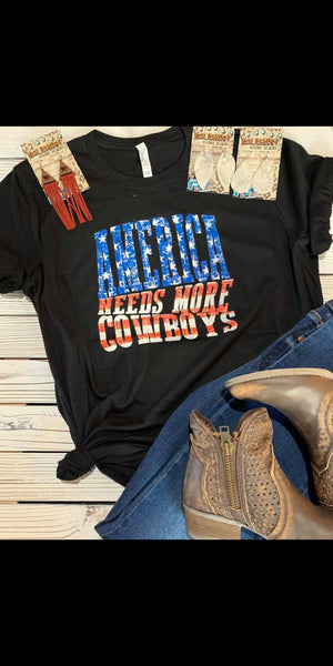 America Needs More Cowboys Top - Also in Plus Size