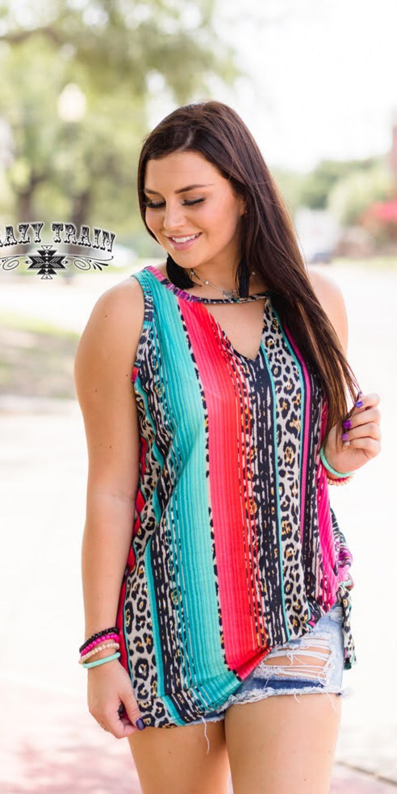Tatum Serape Tank Top - Also in Plus Size