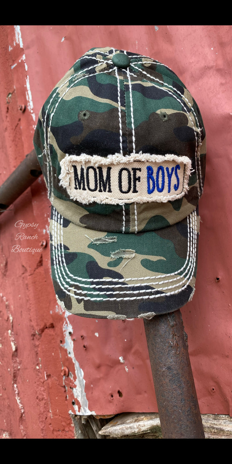 Mom of Boys Camo Cap