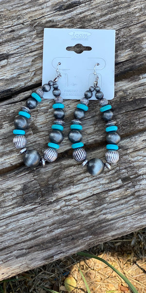 Mady Turquoise Tear Drop Earrings