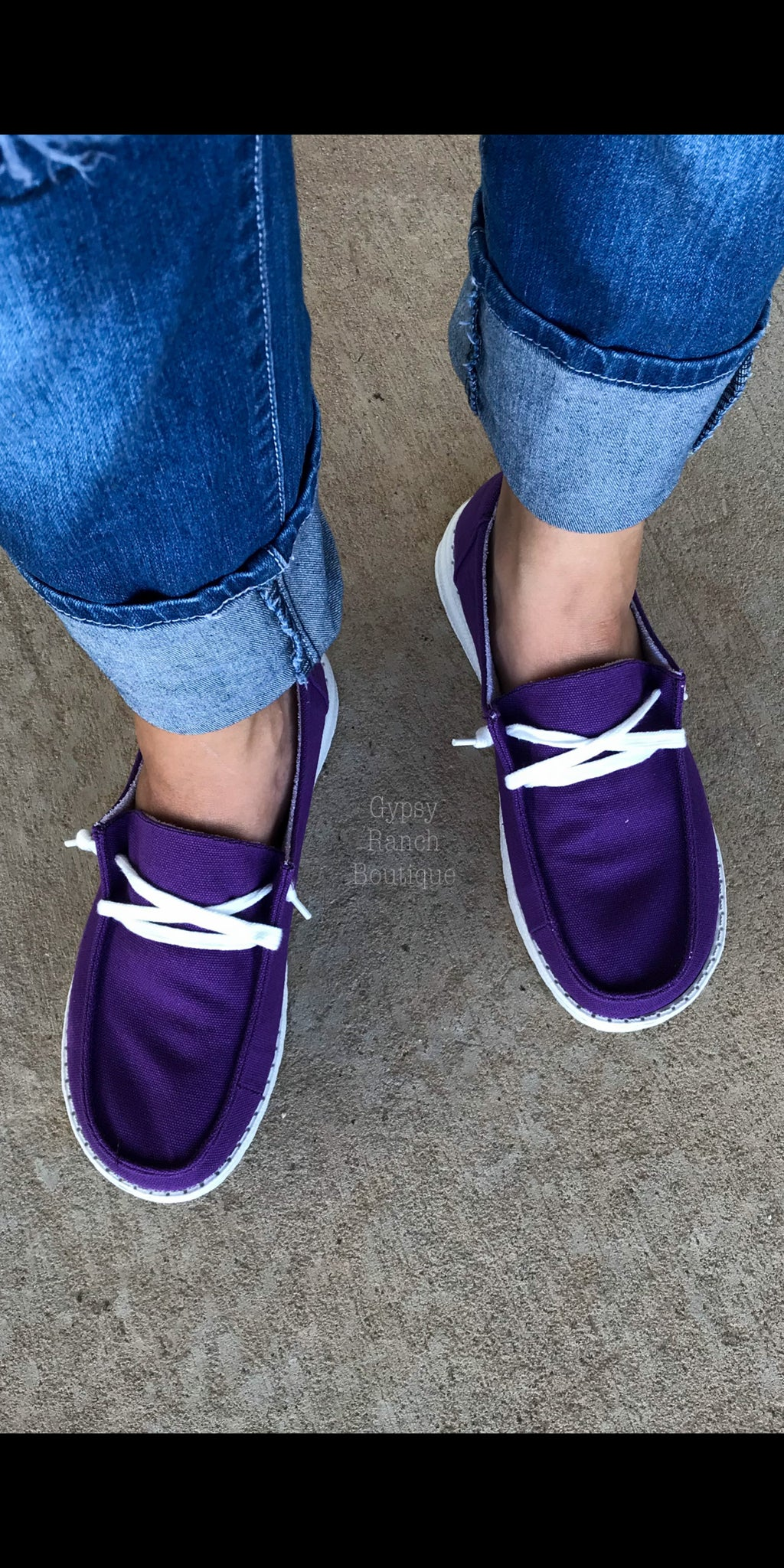 Gypsy Jazz PURPLE Slip On Shoes
