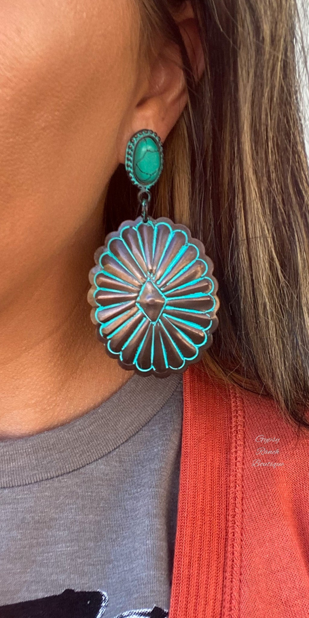 On The Concho Turquoise Earrings