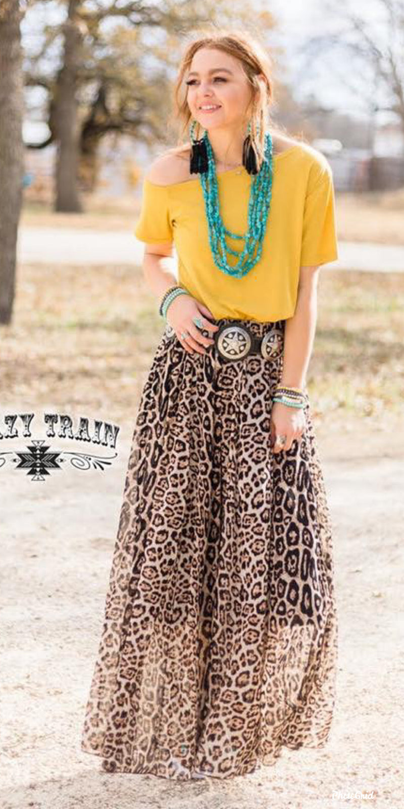 Midland Leopard Maxi Skirt - Also in Plus Size