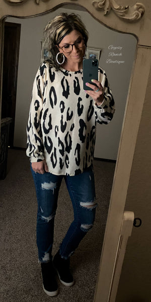 Auburn Leopard Top - Also in Plus Size
