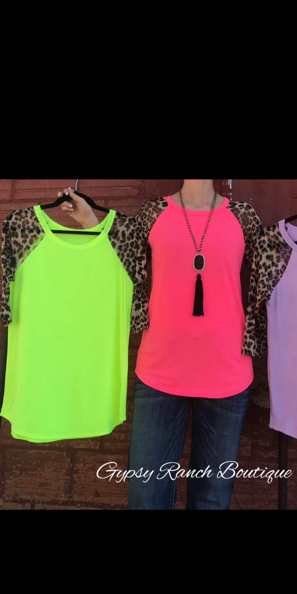 Late Night Leopard Neon Lime Top - Also in Plus Size