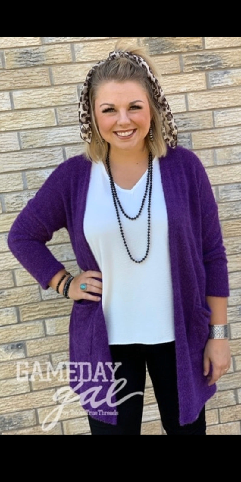 Llano Purple Soft Solid Cardigan - Also in Plus Size
