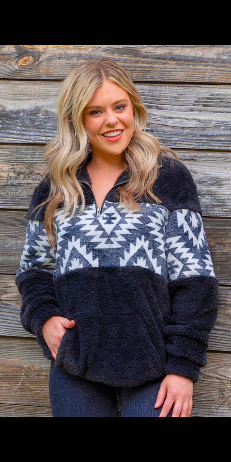 Winter Park Aztec Pullover Top - Also in Plus Size